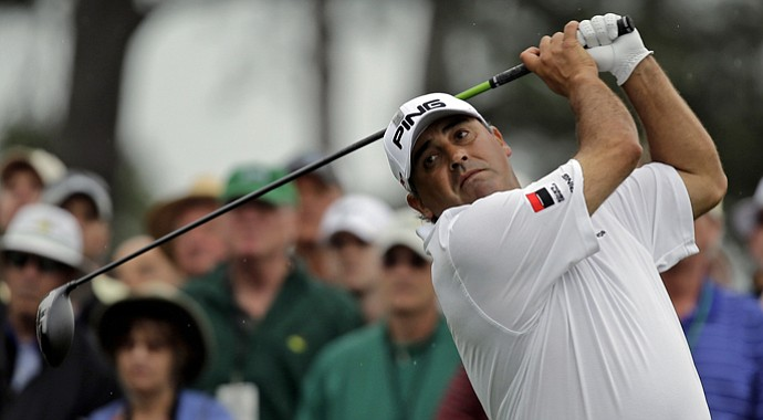 A week after his runner-up finish at the Masters (above), Angel Cabrera won the PGA Tour Latinoamerica's Del Centro Open in Cordoba, Argentina.