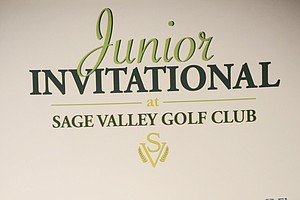 Tom Wyatt addresses hundreds during Opening Night at the Junior Invitational at Sage Valley.