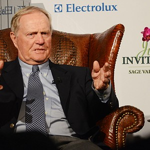 Jack Nicklaus was the keynote speaker on Opening Night at the Junior Invitational at Sage Valley.