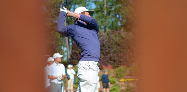 Nicolo Galletti hits his opening tee shot at the Junior Invitational on Friday.