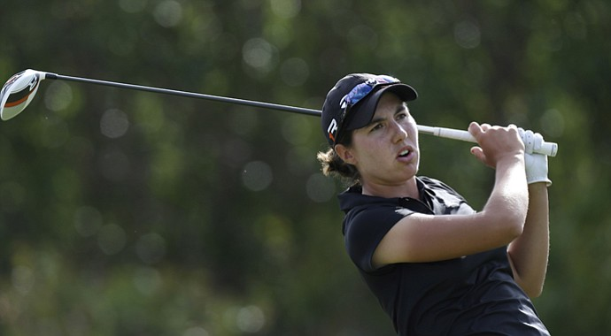 Carlota Ciganda during the third round of the 2013 North Texas LPGA Shootout.