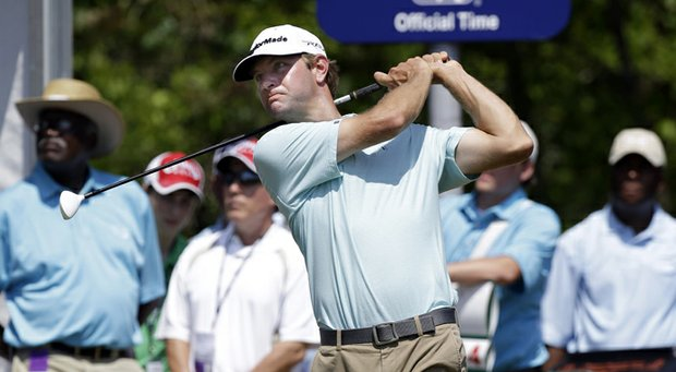 Lucas Glover during the third round of the 2013 Zurich Classic of New Orleans.