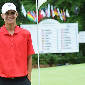 Carson Young is all smiles after winning the third annual Junior Invitational at Sage Valley on Sunday.