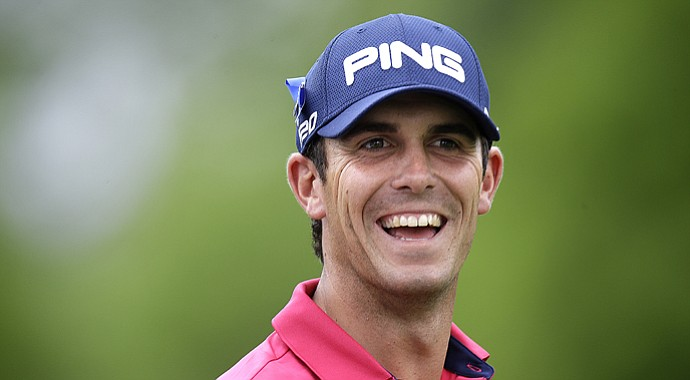 Billy Horschel during the final round of his first PGA Tour win, the 2013 Zurich Classic of New Orleans.