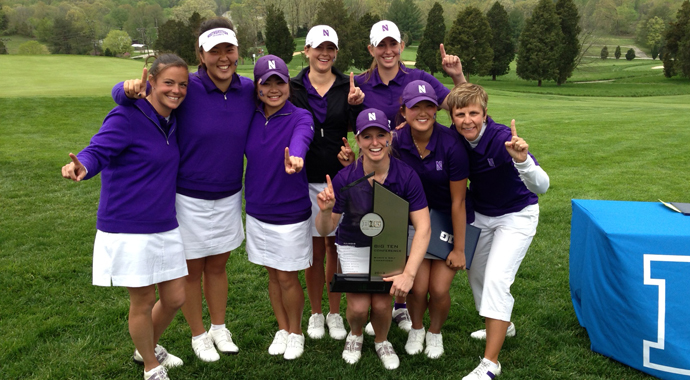 Northwestern tied Purdue for the Big Ten Conference Championship crown. It's the first conference victory in Northwestern women's golf history.