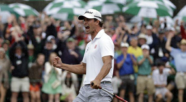 Adam Scott during his win at the 2013 Masters.
