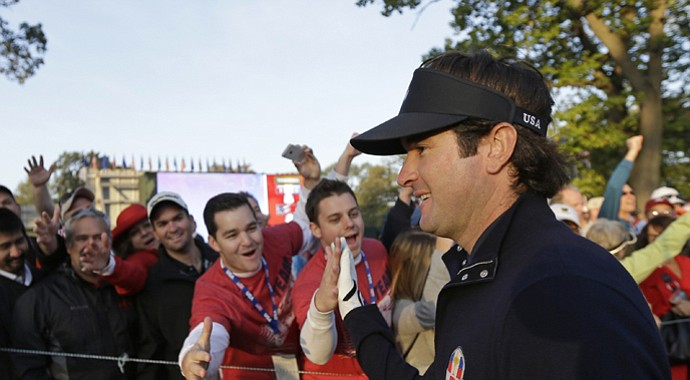 Bubba Watson during the 2012 Ryder Cup.