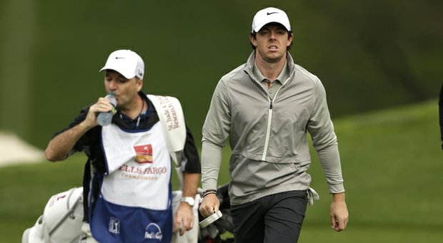 Rory McIlroy during practice for the 2013 Wells Fargo Championship.