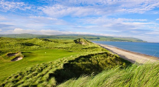The 14th hole at Machrihanish Golf Club.