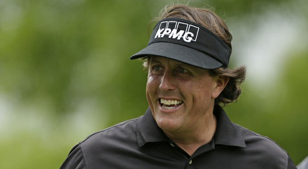 Phil Mickelson during the pro-am round of the 2013 Wells Fargo Championship in Charlotte, N.C.