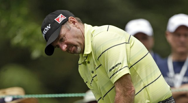 Rod Pampling during the second round of the 2013 Wells Fargo Championship.