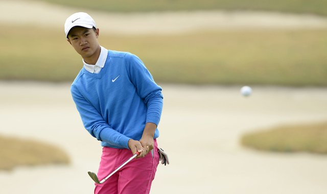 Ye Wocheng during the second round of the 2013 China Open on the European Tour.