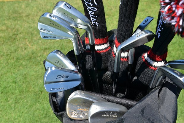 Geoff Ogilvy is playing a set of Titleist 712 MB irons this week, along with a 712U 2-iron.