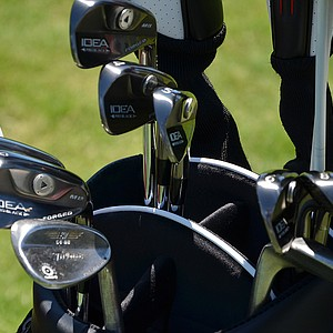 James Hahn uses Adams Idea Pro Black MB irons.