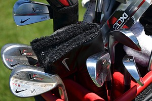Seung-Yul Noh's Nike VR Pro Blades and VR Pro wedges gleam in the Florida sun on Monday afternoon.