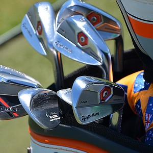 Australia's John Senden uses TaylorMade Tour Preferred Forged MB irons and ATV wedges.