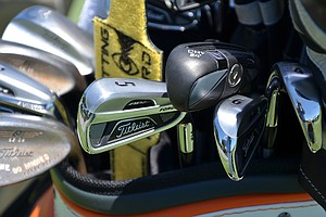 Josh Teater had a 24-degree Adams DHy hybrid in his bag Monday at TPC Sawgrass, along with his Titleist 712 AP2 irons.
