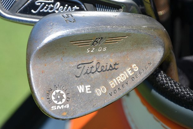 Josh Teater also had a positive message stamped on his Titleist Vokey Design SM4 gap wedge.