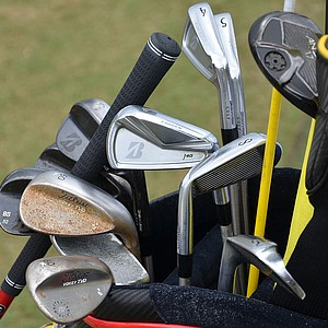 Brandt Snedeker, winner of the 2012 FedEx Cup, uses Bridgestone J40 Cavity Back irons, along with a Bridgestone J40 pitching wedge and sand wedge and a Titleist Vokey Design TVD lob wedge.