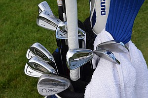 Jonathan Byrd mixes his irons and plays a Mizuno MP Fli-Hi 3- and 4-iron along with his Mizuno MP-59 irons.