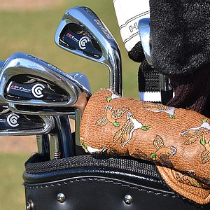 Judging by his putter headcover, Joe Daley – if he weren't practicing at TPC Sawgrass on Wednesday – might be happy duck hunting.