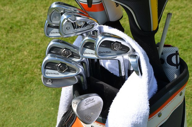 Martin Laird plays TaylorMade Forged TP 3- and 4-irons while the rest of his irons are TaylorMade Forged MCs.