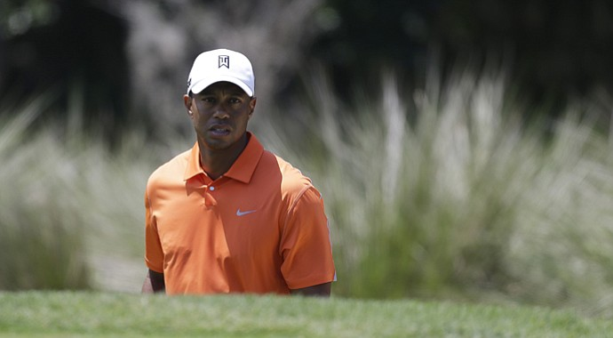 Tiger Woods during the first round of the 2013 Players Championship in Ponte Vedra Beach, Fla.