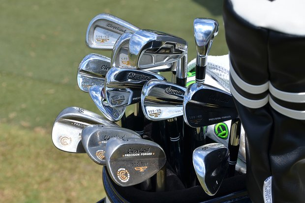 Jason Kokrak blends Cleveland Forged 588 MB mid- and short irons with Cleveland 588 MY long irons and 588 Forged wedges.