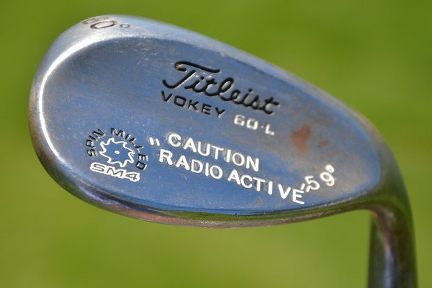 Be careful about getting too close to Rickie Fowler's Titleist Vokey Design SM4 lob wedge.