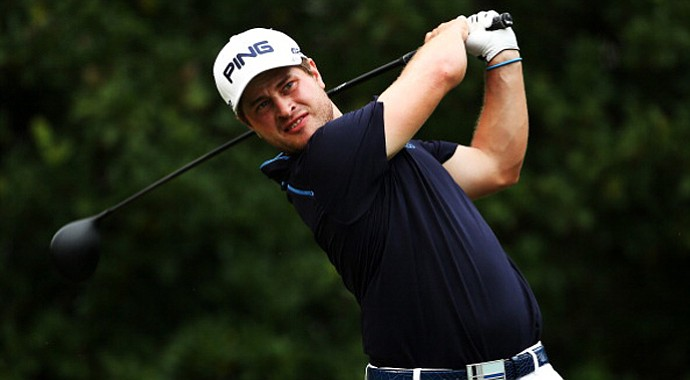 David Lingmerth, of Sweden, plays a shot on the 11th hole during the third round of The Players Championship .