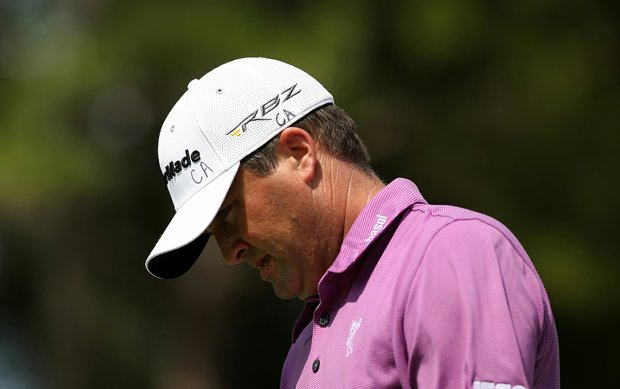 Ryan Palmer put the initials of his friend, Clay Aderholt, who died in a car accident Thursday in San Antonio, on his hat during  the 2013 Players Championship at TPC Sawgrass.
