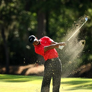 Tiger Woods in the final round of the 2013 Players Championship at TPC Sawgrass.