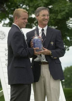 Denny Glass (right) with 2000 Northeast Amateur winner Luke Donald.