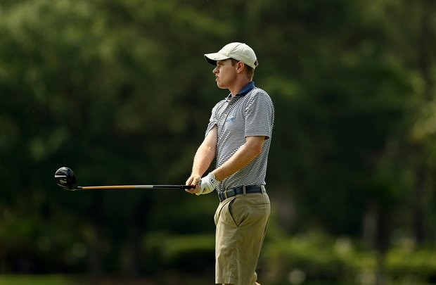 North Florida's Kevin Phelan at the Division 1 Men's Regional at Golden Eagle Country Club in Tallahassee.