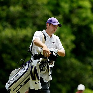 Washington's Chris Williams at the Division 1 Men's Regional at Golden Eagle Country Club in Tallahassee.