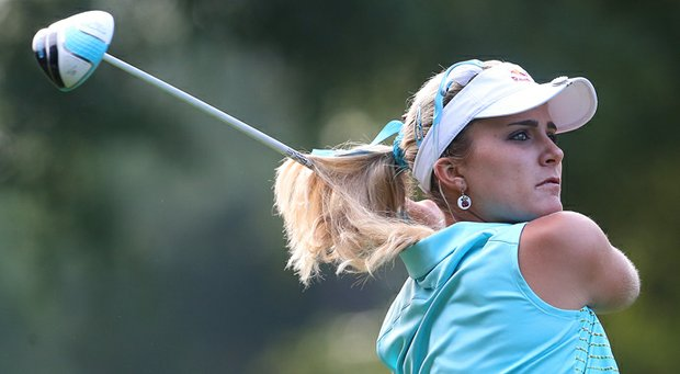Lexi Thompson birdied four of her last five holes for a 7-under 65 and a share of the first-round lead Thursday with Eun-Hee Ji in the Mobile Bay LPGA Classic.