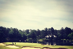 No. 17, par-3 at the Division 1 Men's Regional at Golden Eagle Country Club in Tallahassee.