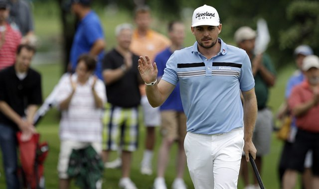 Keegan Bradley during his first-round 60 at the 2013 HP Byron Nelson Championship in Irving, Texas.