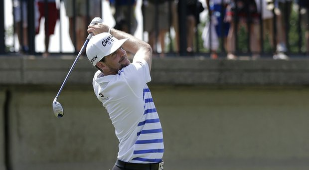 Keegan Bradley during the second round of the 2013 Byron Nelson Championship.