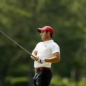 Abraham Ancer of Oklahoma at the Division 1 Men's Regional at Golden Eagle Country Club in Tallahassee.