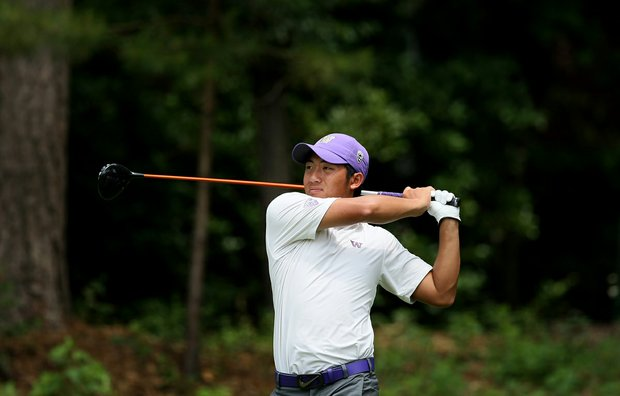 Cheng-Tsung Pan of Washington at the Division 1 Men's Regional at Golden Eagle Country Club in Tallahassee.