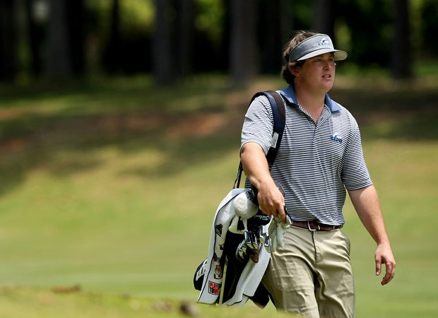 North Florida's M. J. Maguire at the Division 1 Men's Regional at Golden Eagle Country Club in Tallahassee.