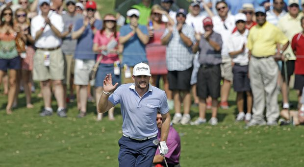 Keegan Bradley during the third round of the 2013 HP Byron Nelson Championship.
