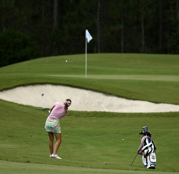 Annie Dulman of Rollins competed as an individual at the Division 2 Women's Final in Daytona Beach.
