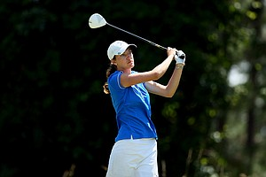 Ellen Chambers of Lynn University at the Division 2 Women's Final in Daytona Beach.