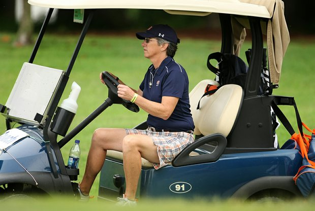 Auburn coach, Kim Evans during the second round of the 2010 Women's NCAA Championship at Country Club of Landfall- Dye Course.