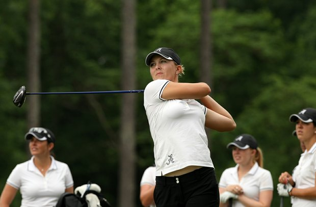 Jennifer Kirby of Alabama during Monday's practice round at the Women's NCAA Championship.
