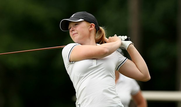 Alabama's Stephanie Meadow during Monday's practice round at the Women's NCAA Championship.