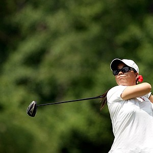 Defending individual champion, Oklahoma's Chirapat Jao-Javanili during Monday's practice round at the Women's 2013 NCAA Championship.