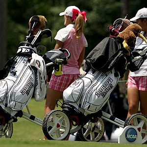 Mississippi State makes their first appearance at an NCAA finals during Monday's practice round at the Women's 2013 NCAA Championship.